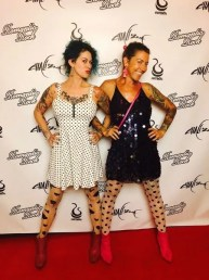 """[""""The Sidewalk Project"""" Co-Founders Soma Snakeoil & Emily T. Nielsen at LA Art Show 2018]"""