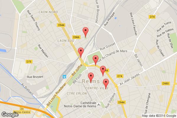 Trajet de Paul Hess : Hôtel de ville, rue Bonhomme, rue Lesage, place Amélie-Doublié