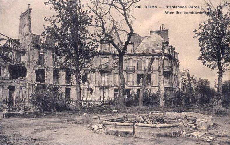Jeudi 14 octobre 1915. Obus tombés n° 3 Esplanade Cérès