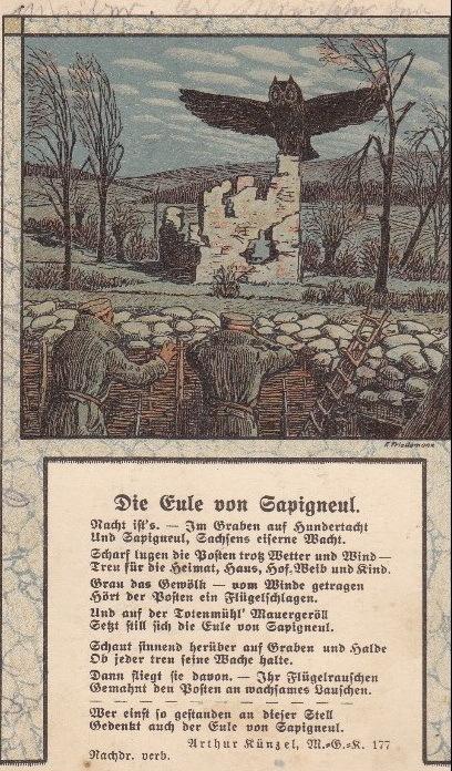 Mardi 5 octobre 1915, la bataille de Champagne qui avait fait concevoir l'espoir d'une percée propre à Vouziers, avait finalement échoué