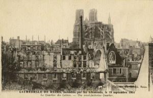 La cathédrale vue du quartier des laines