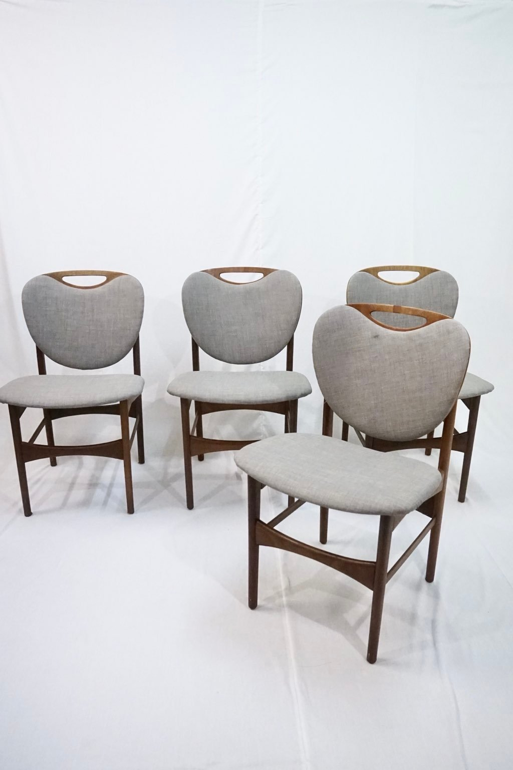 Set of four danish teak dining chairs : SOLD