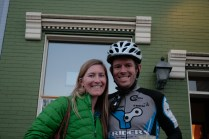 My wife and I before the next 100 miles of suffering.