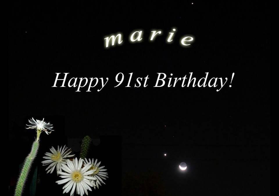 Marie's 91st Birthday Bash