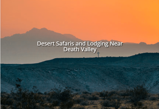 Cynthia's - Desert Safaris and Lodgings near Death Valley