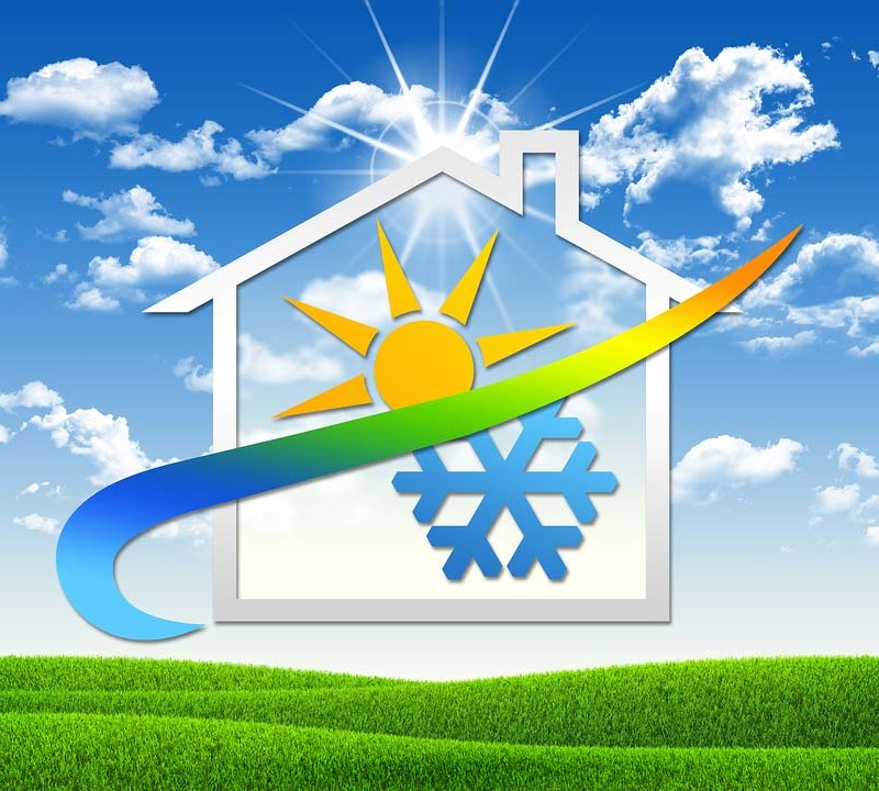 House with Hot and Cold Symbols