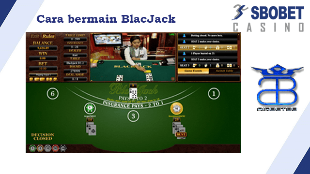 Cara bermain BlackJack di SBOBET Casino