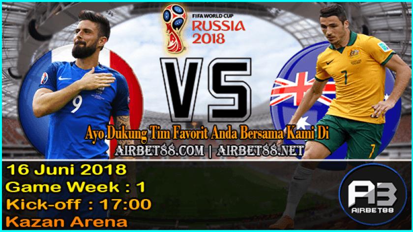 Prediksi Perancis Vs Australia 16 Juni 2018