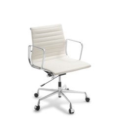 Eames Office Chair Replica Powder Blue Covers Executive Mid Back White