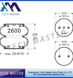 double convoluted air spring truck air rubber bellow air bags firestone w01 358 3403 [ 900 x 900 Pixel ]