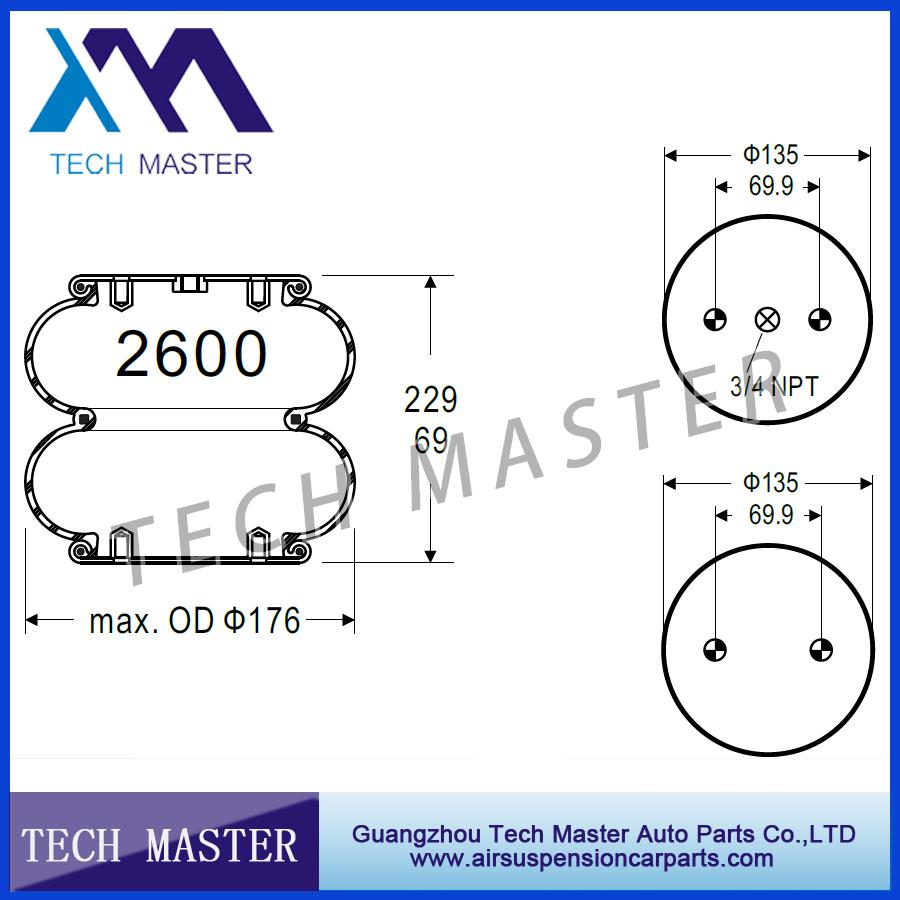 medium resolution of double convoluted air spring truck air rubber bellow air bags firestone w01 358 3403