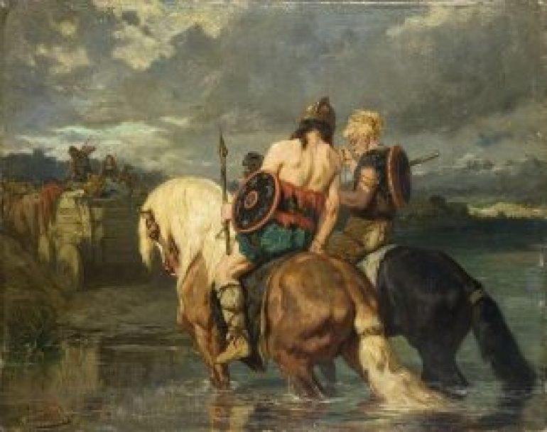 Evariste-Vital_Luminais_-_Goths_traversant_une_rivière