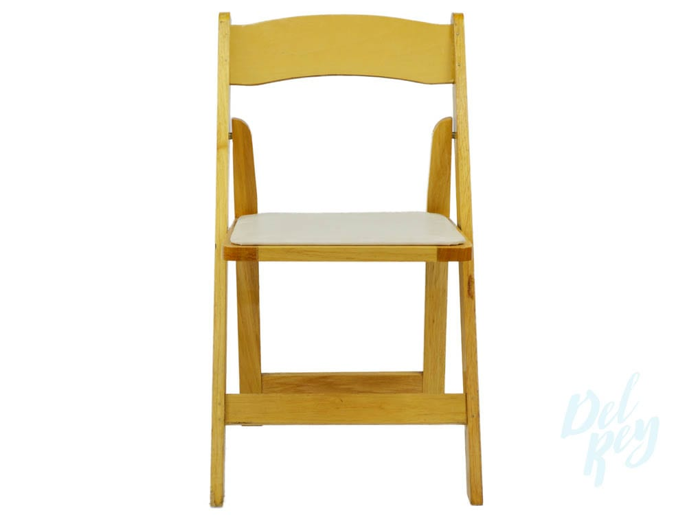 wooden folding chairs for rent loose dining chair covers australia natural wood padded rentals los angeles pasadena