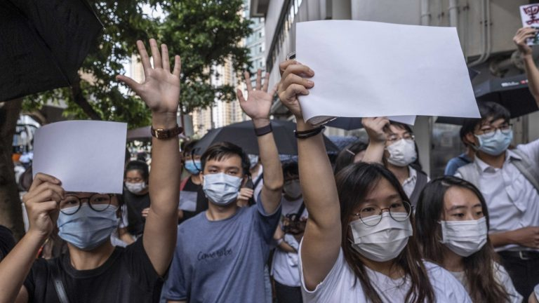 Beijing outlawed the rallying cry of Hong Kong's protest movement ...