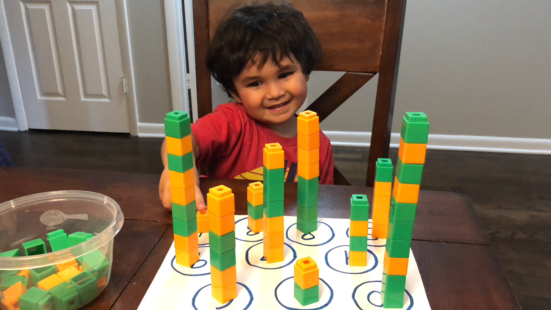 Stacking Unifix Cubes Ages 3