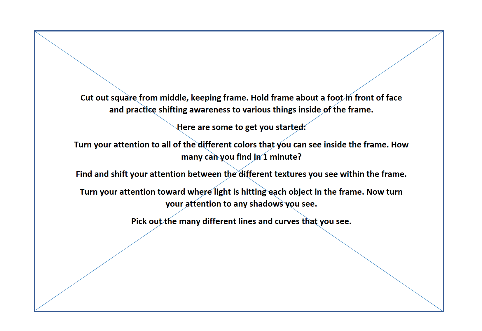 Mindfulness Worksheet 1