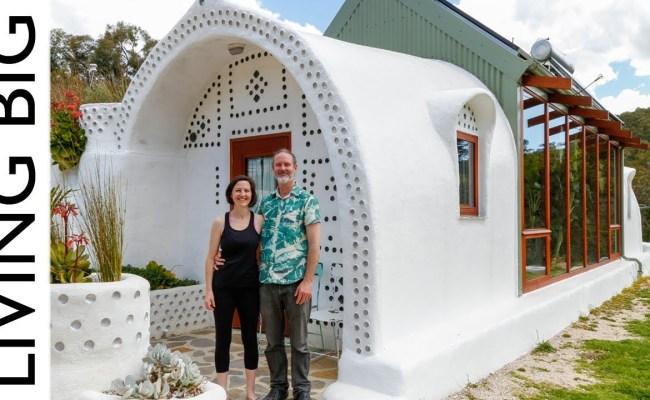 Small Off Grid Earthship Home In Australia Tiny House Living