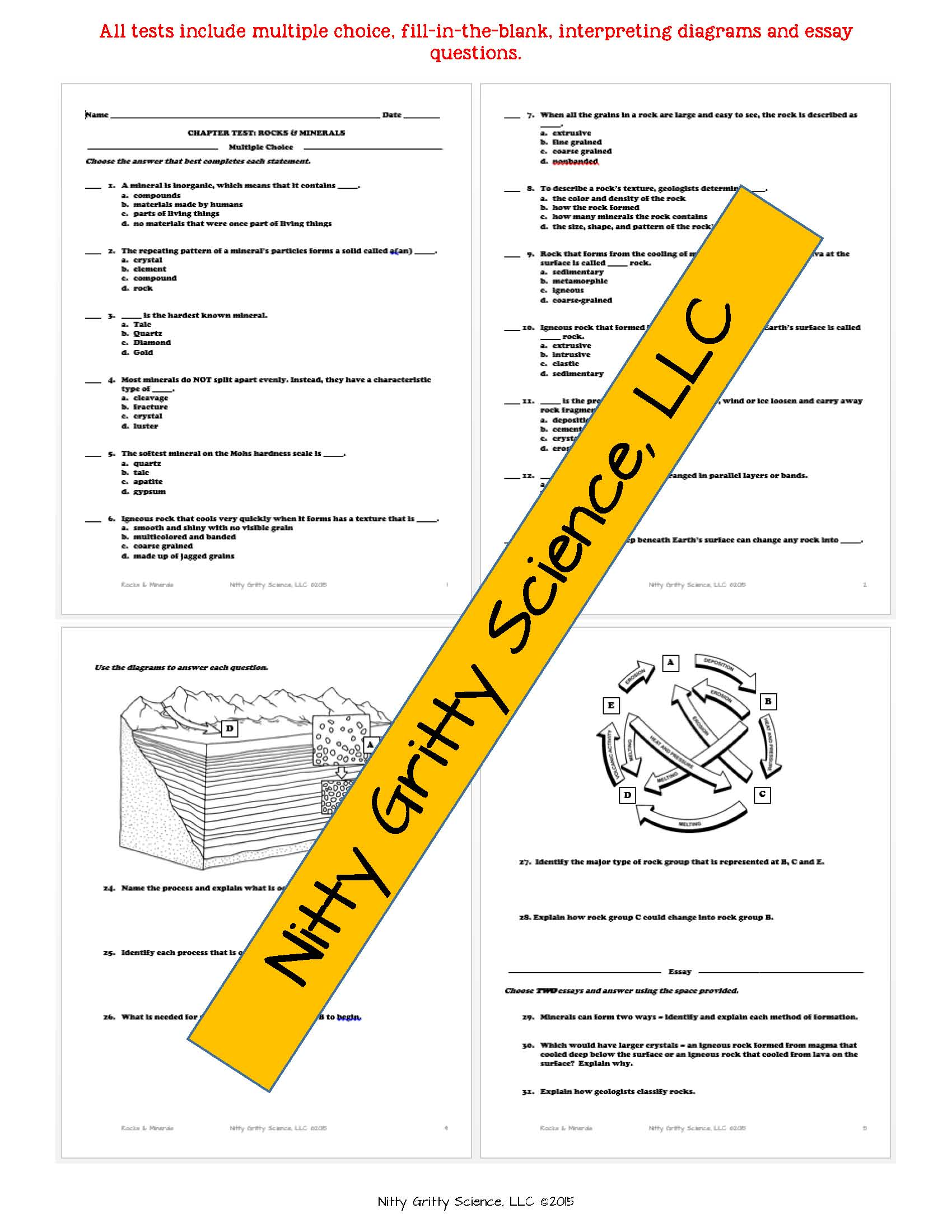 Earth Science Chapter Tests With Answer Key