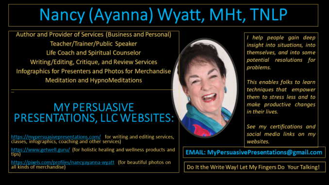 Nancy Wyatt MPP Thumbnail re services and products