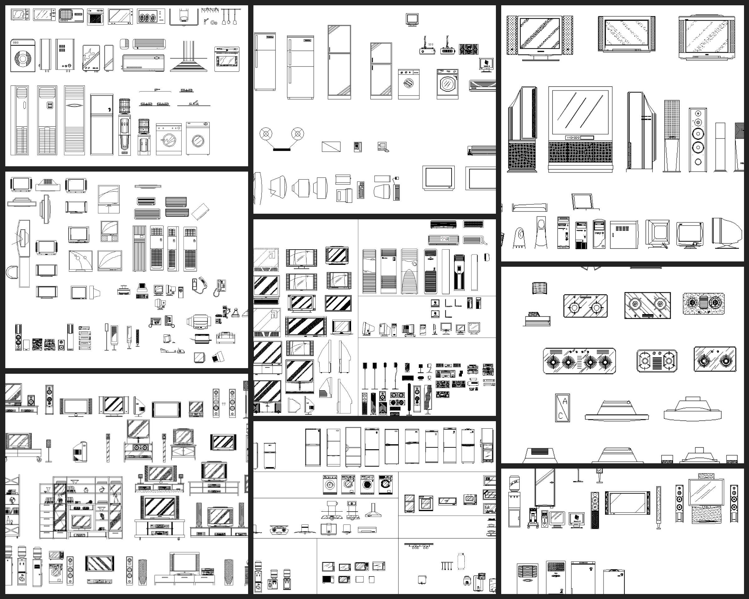 Electrical Appliances Autocad Blocks Collections All Kinds