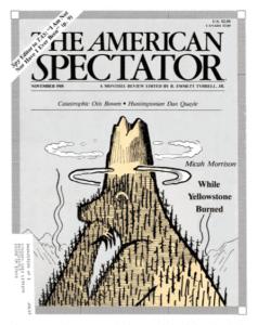 American Spectator cover Nov. 1988