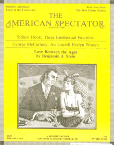 American Spectator magazine cover, Jan. 1985