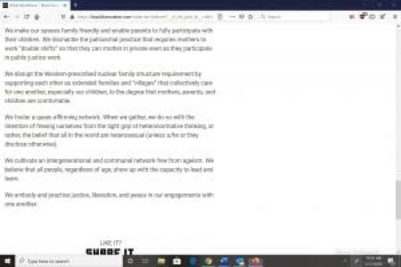 Black Lives Matter What We Believe section screenshot, featuring Marxist messaging, 5_July 17 2020_spectator.org