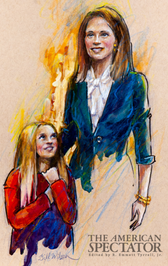 Amy Coney Barrett and daughter, Bill Wilson, 2020, spectator.org