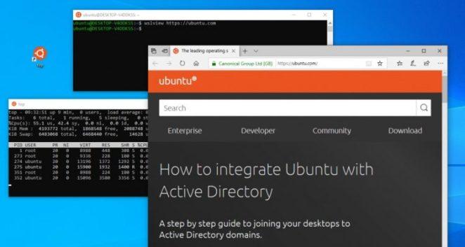 Captura de tela do Ubuntu-WSL por Balint Reczey