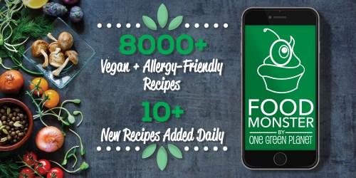 Food Monster Download The Largest Vegan Food App! One Green Planet