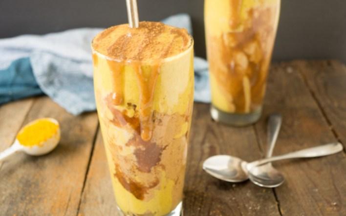 Peanut Butter Caramel Ribbon Golden Milkshake 5