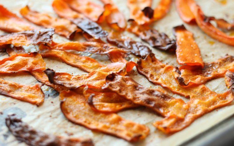 Vegan Baked Smoky Carrot Bacon