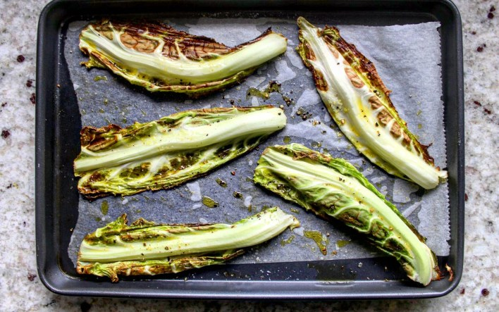Vegan Crispy Roasted Cauliflower Leaves