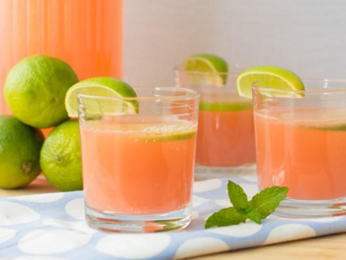 Vegan Fizzy Pink Grapefruit Lemonade