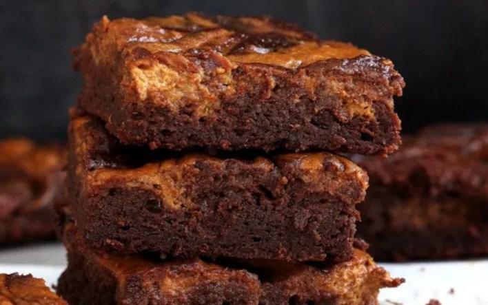Grain-Free Pumpkin Cheesecake Brownies