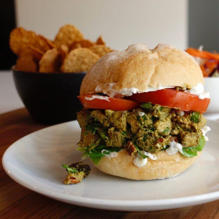 Vegan Zesty Tofu Salad Sandwich