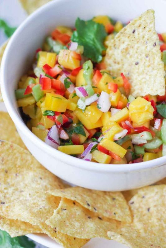Vegan Fresh Mango Salsa