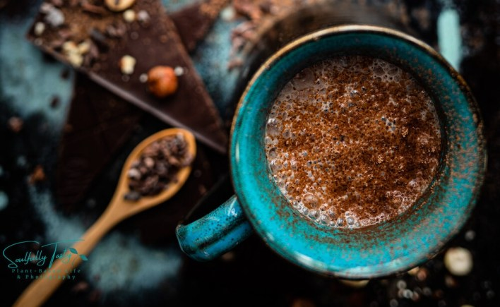 Vegan Hazelnut Milk Dark Chocolate Latte