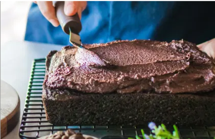 Vegan Chocolate Olive Oil Cake with Espresso Frosting