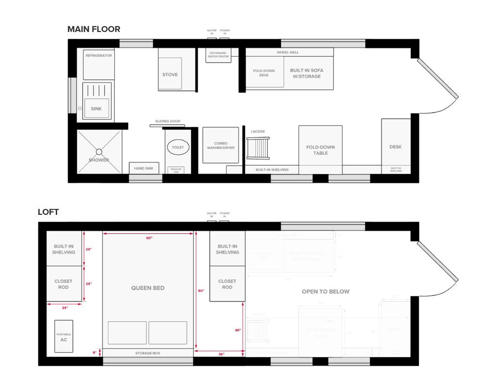 Tiny Project Tiny House Floor Plans (Construction PDF