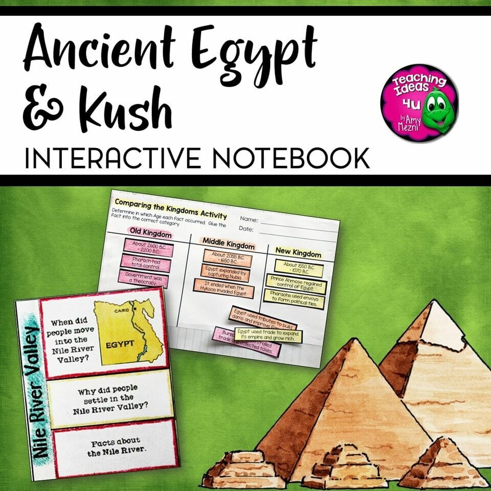 medium resolution of Ancient Egypt \u0026 Kush Interactive Notebook Unit 6th Grade INB - Teaching  Resources and Lesson Plans - Teaching Ideas 4U by Amy Mezni