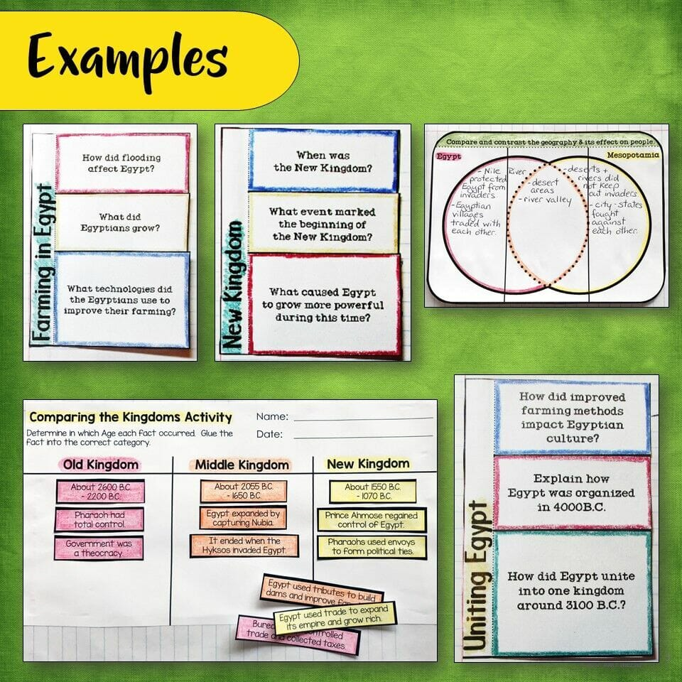 hight resolution of Ancient Egypt \u0026 Kush Interactive Notebook Unit 6th Grade INB - Teaching  Resources and Lesson Plans - Teaching Ideas 4U by Amy Mezni