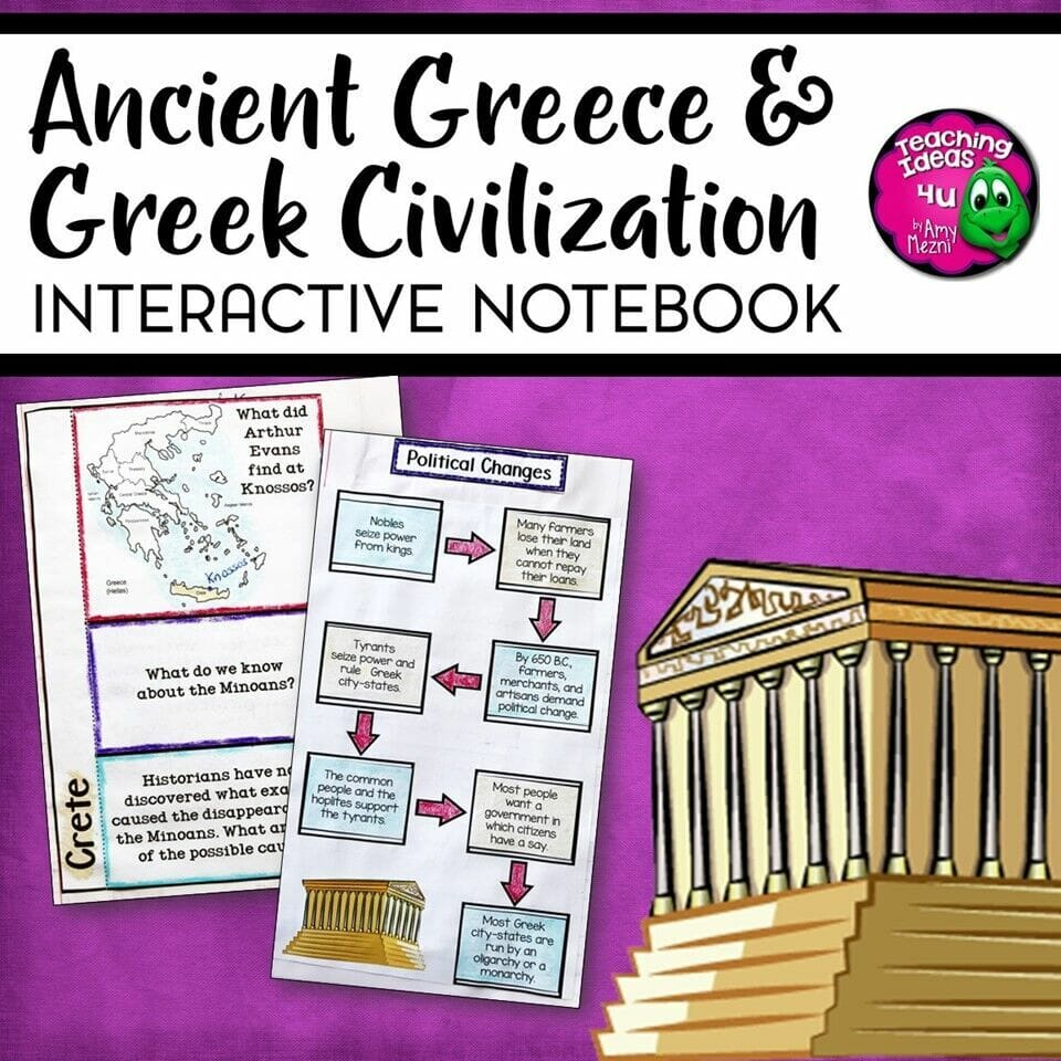 hight resolution of Ancient Greece \u0026 Greek Civilization Interactive Notebook Unit 6th Grade INB  - Teaching Resources and Lesson Plans - Teaching Ideas 4U by Amy Mezni