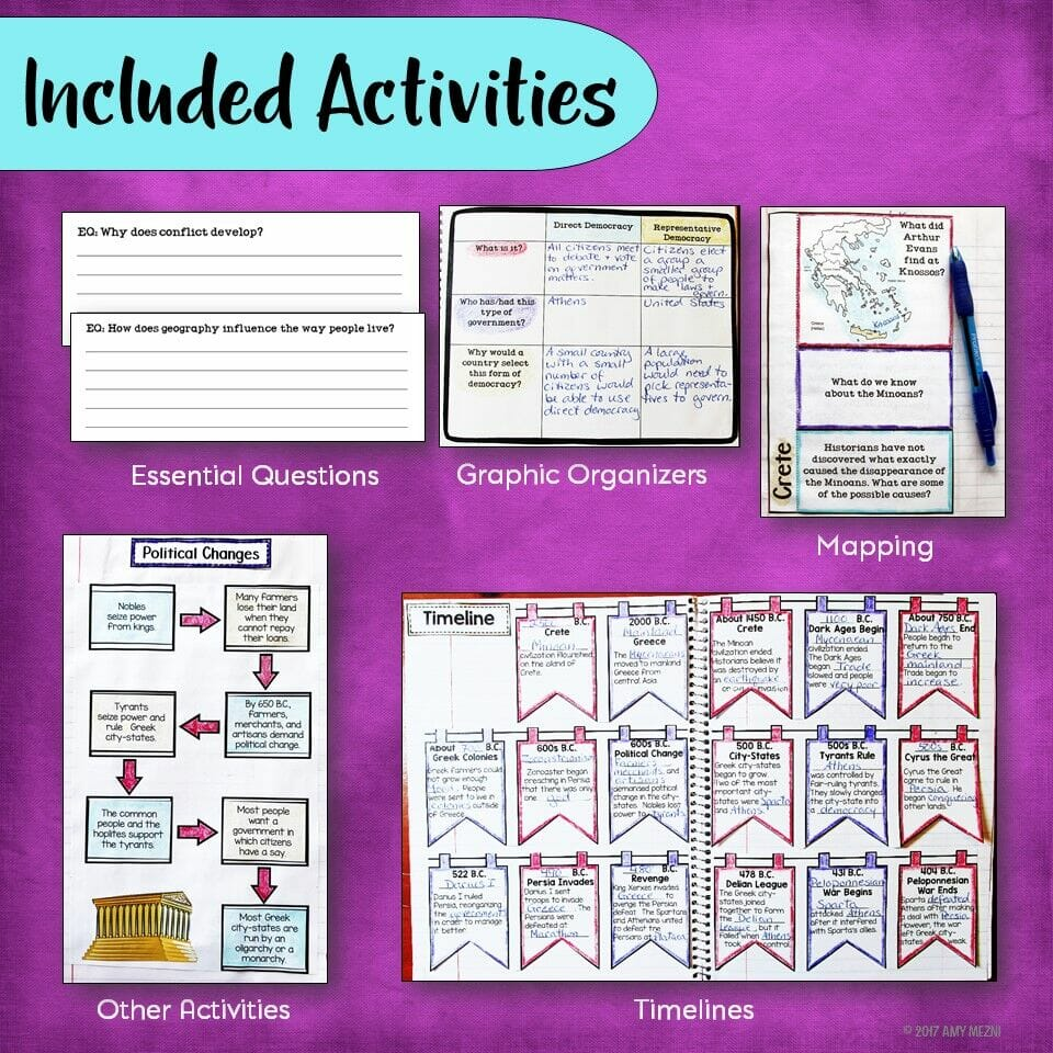 medium resolution of Ancient Greece \u0026 Greek Civilization Interactive Notebook Unit 6th Grade INB  - Teaching Resources and Lesson Plans - Teaching Ideas 4U by Amy Mezni