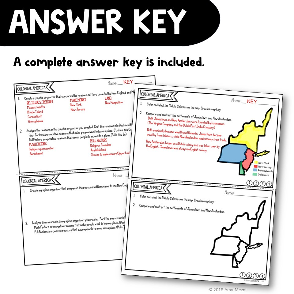 hight resolution of Colonial America \u0026 13 Colonies Exit Tickets - Digital \u0026 Printable -  Teaching Resources and Lesson Plans - Teaching Ideas 4U by Amy Mezni