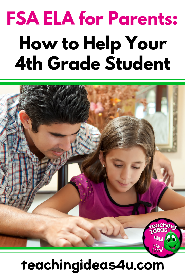 hight resolution of 4th Grade FSA ELA for Parents - Teaching Resources and Lesson Plans -  Teaching Ideas 4U by Amy Mezni