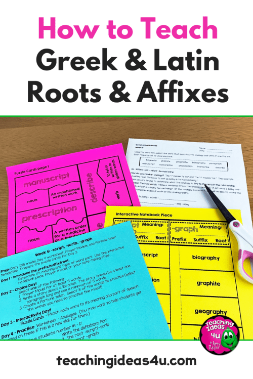 small resolution of How to Effectively Teach Greek \u0026 Latin Roots - Teaching Resources and  Lesson Plans - Teaching Ideas 4U by Amy Mezni