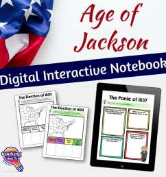 Age of Jackson U.S. History DIGITAL Interactive Notebook - Teaching  Resources and Lesson Plans - Teaching Ideas 4U by Amy Mezni [ 1152 x 1152 Pixel ]