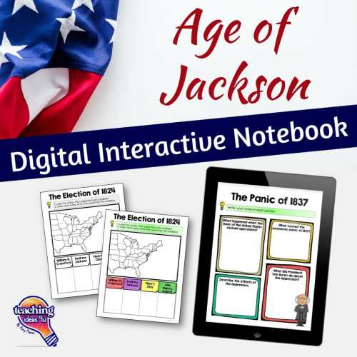 small resolution of Age of Jackson U.S. History DIGITAL Interactive Notebook - Teaching  Resources and Lesson Plans - Teaching Ideas 4U by Amy Mezni