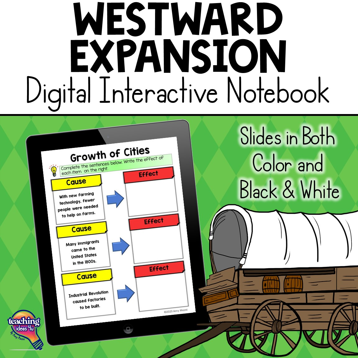 Westward Expansion Digital Interactive Notebook American